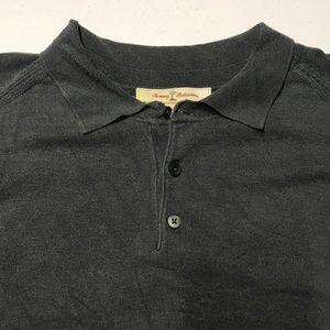 TOMMY BAHAMA Men's 2XL Silk Blend L/S Green Shirt